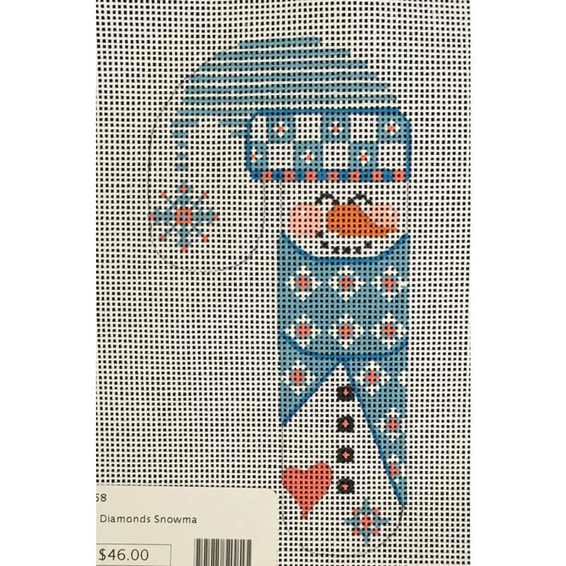 Nashville Needleworks-3794-Blue Diamond Snowman Candy Cane