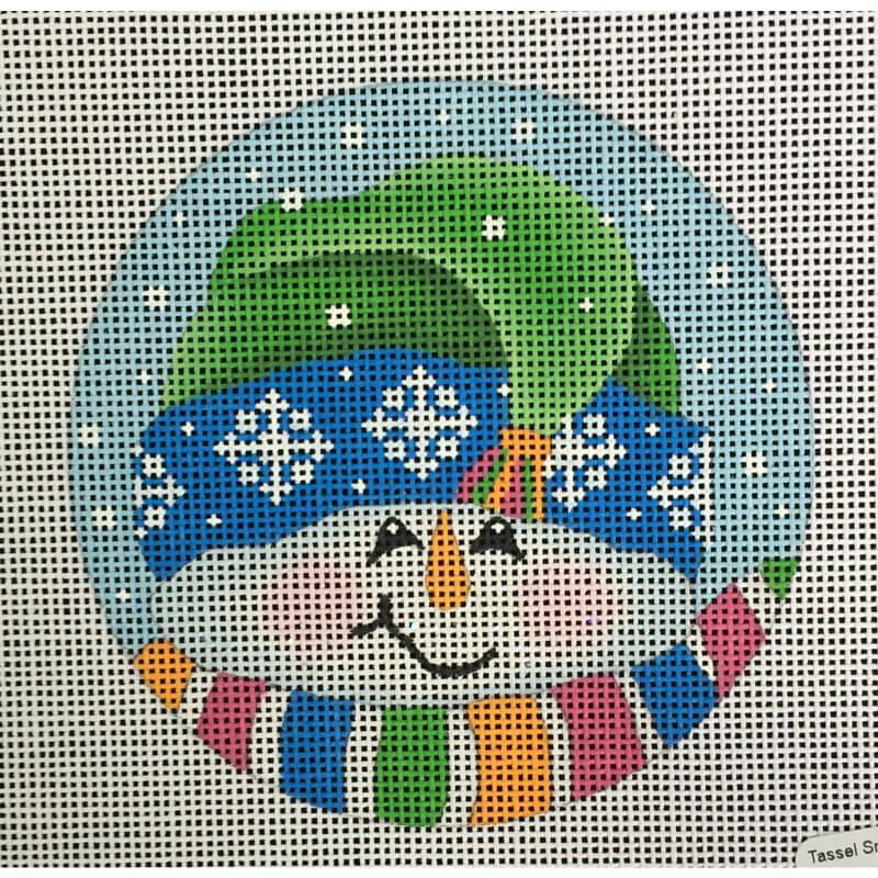 Nashville Needleworks-3036-Tassel Snowman Ornament