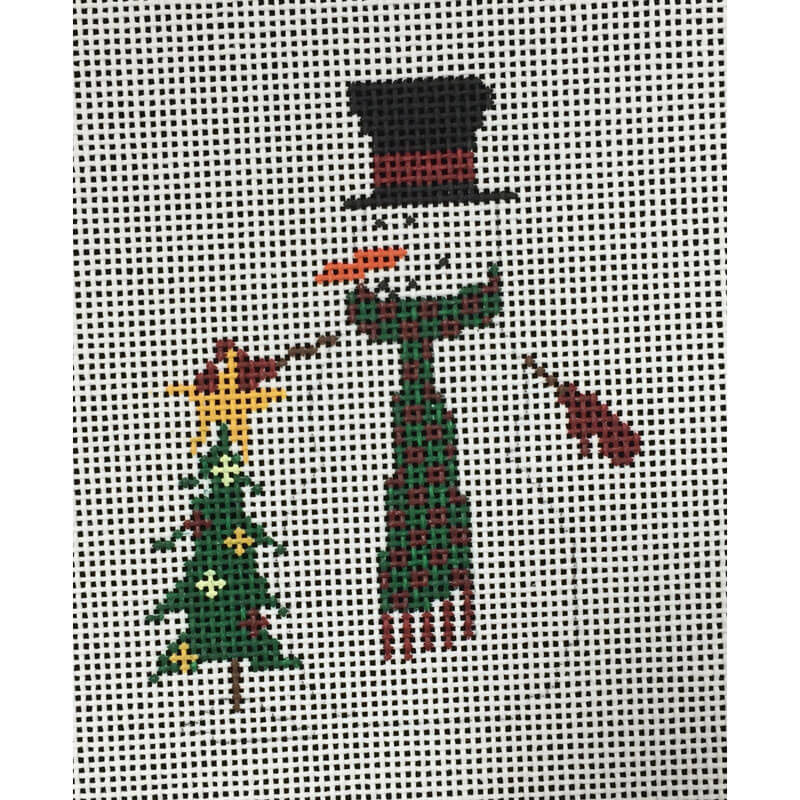 Nashville Needleworks-3897-Snowman with Tree