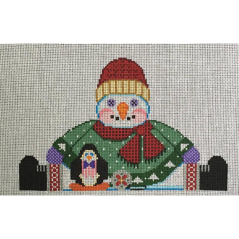 Nashville Needleworks-3352-Snowman Mantel Weight