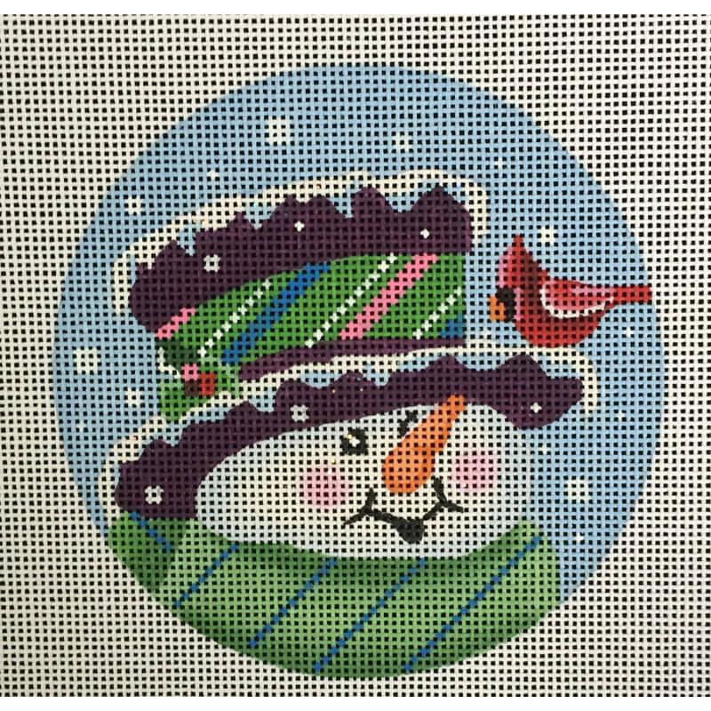 Nashville Needleworks-3035-Topper Hat Snowman