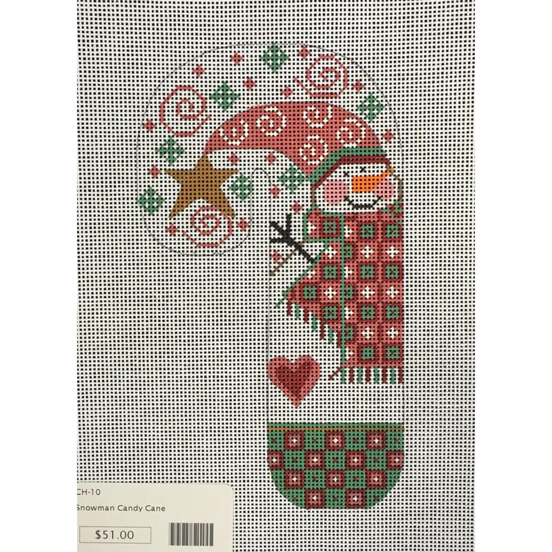 Nashville Needleworks-3792-Snowman Candy Cane