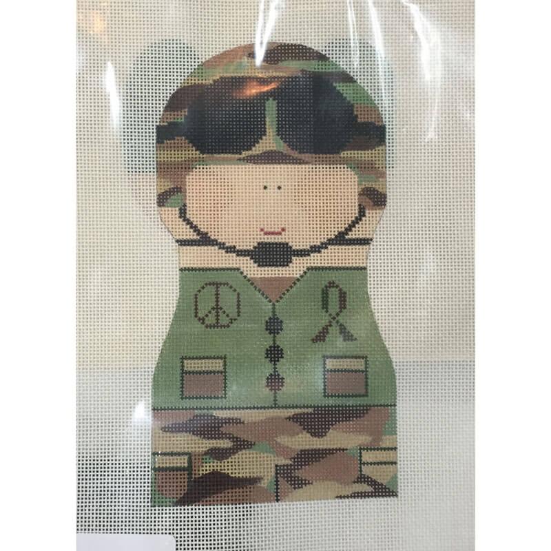 Nashville Needleworks-2458-Army Boy Stand Up