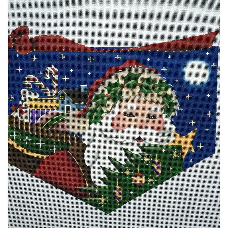 Nashville Needleworks-3255-Santa's Basket Cuff
