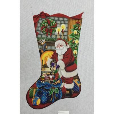 Nashville Needleworks-3842-Santa Delivering Gifts