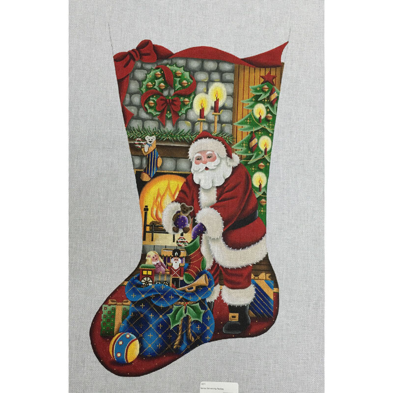 Nashville Needleworks-3842-Santa Delivering Gifts