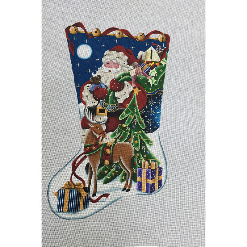 Nashville Needleworks-3844-Christmas Eve Stocking