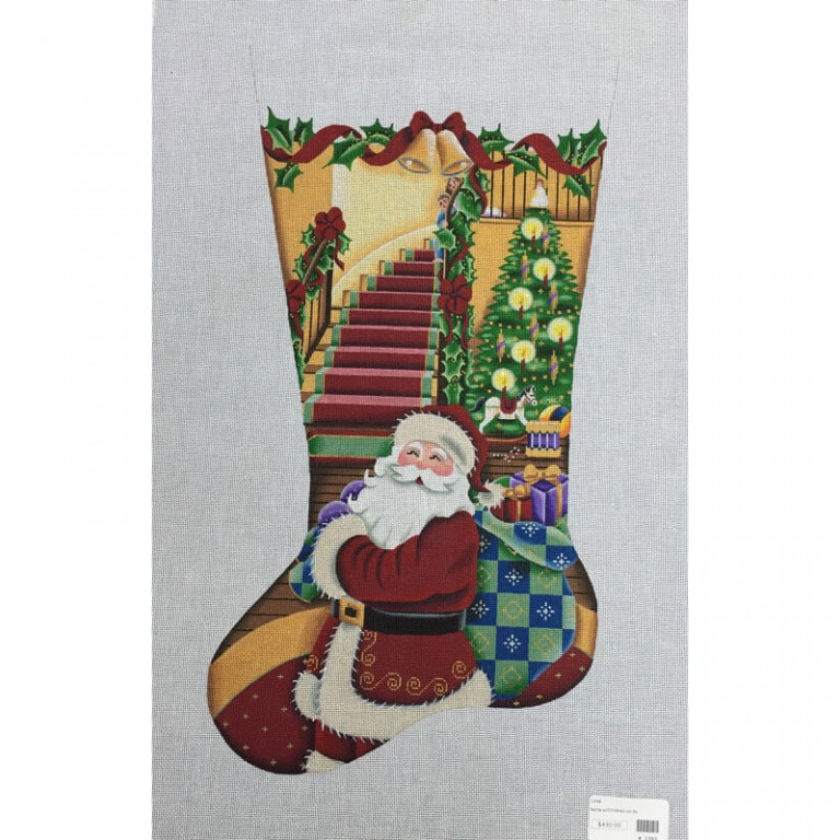 Nashville Needleworks-2393-Santa's Visit Stocking