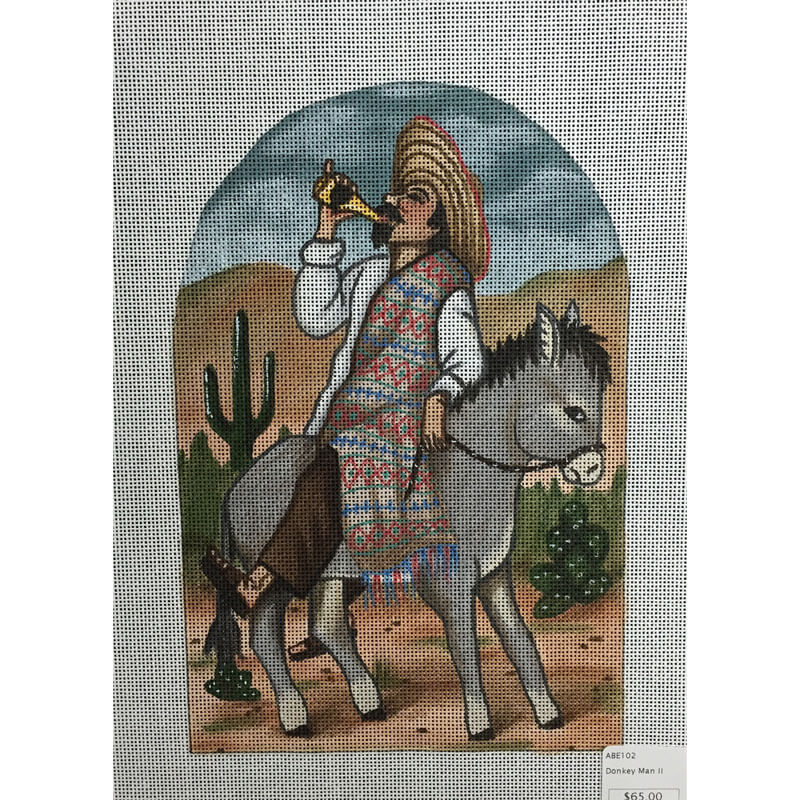 Nashville Needleworks-3319-Amigo Riding a Burro