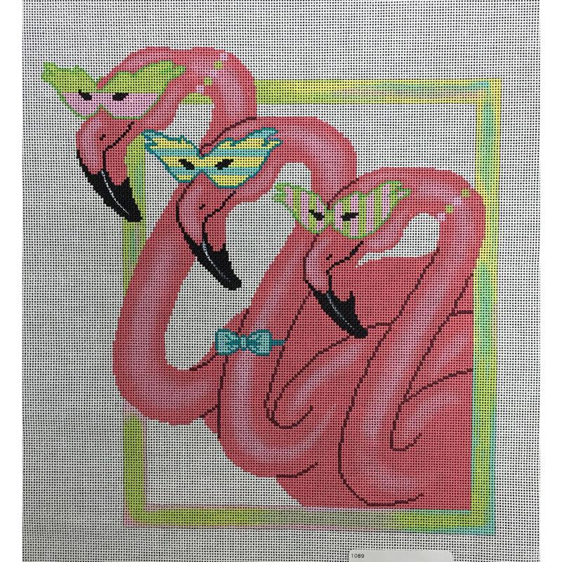 Nashville Needleworks-3395-Masked Flamingos
