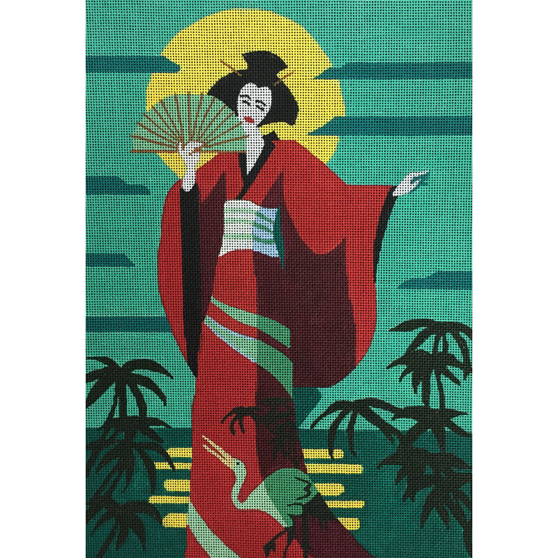 Nashville Needleworks-2819-Single Fan Geisha