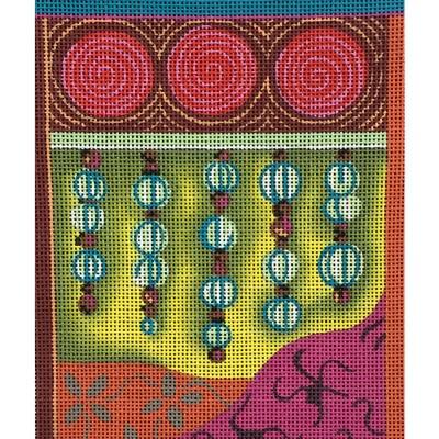 Nashville Needleworks-3711-Beads on Geometic Background