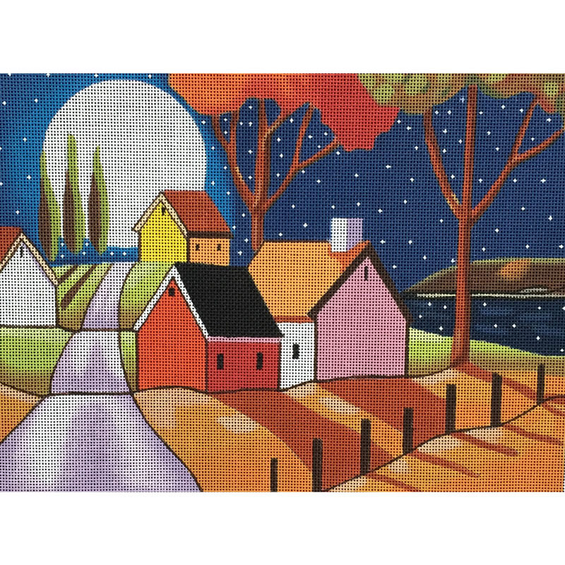Nashville Needleworks-3718-Moon Over Roadway