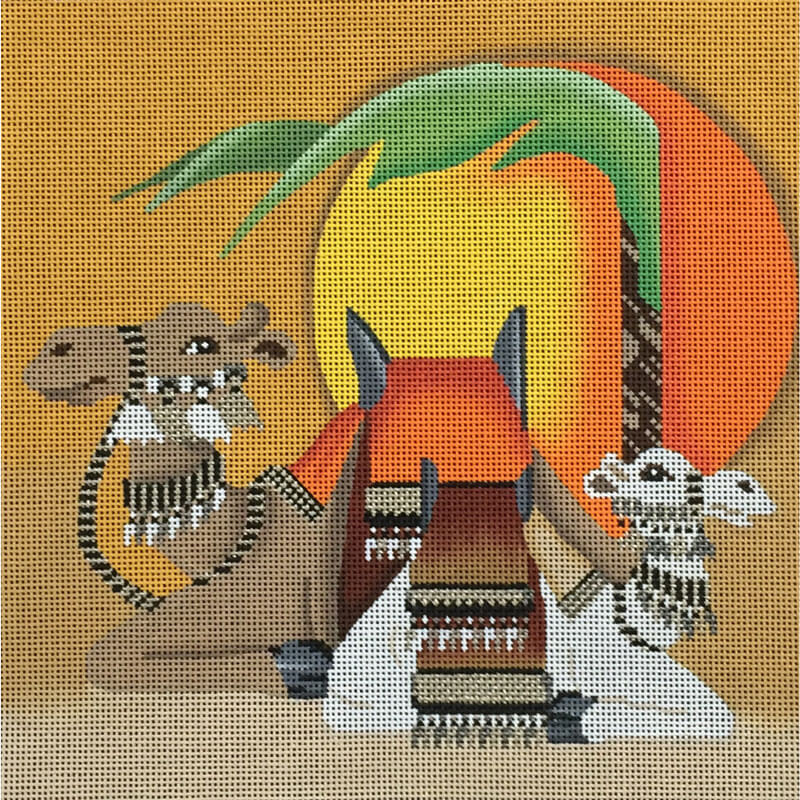 Nashville Needleworks-3716-Two Camels In Sunset