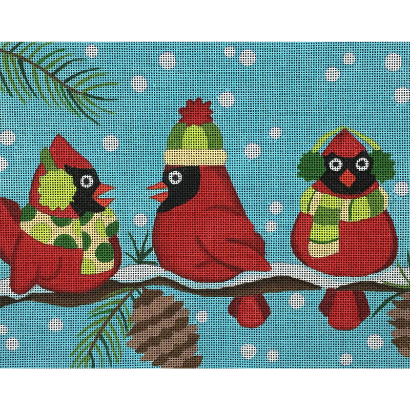 Nashville Needleworks-3158-Three Cardinals