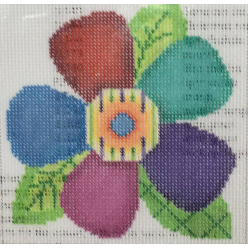 Nashville Needleworks-3045-Mulit-Colored Flower