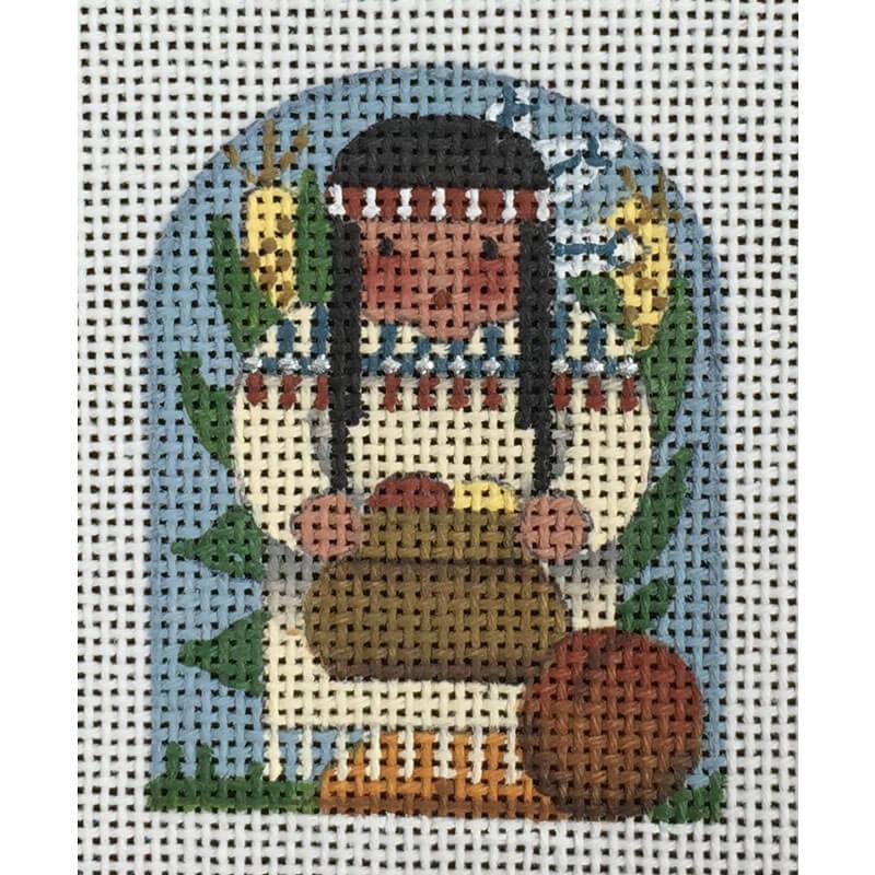 Nashville Needleworks-438-Thanksgiving Thimble-Indian Maiden