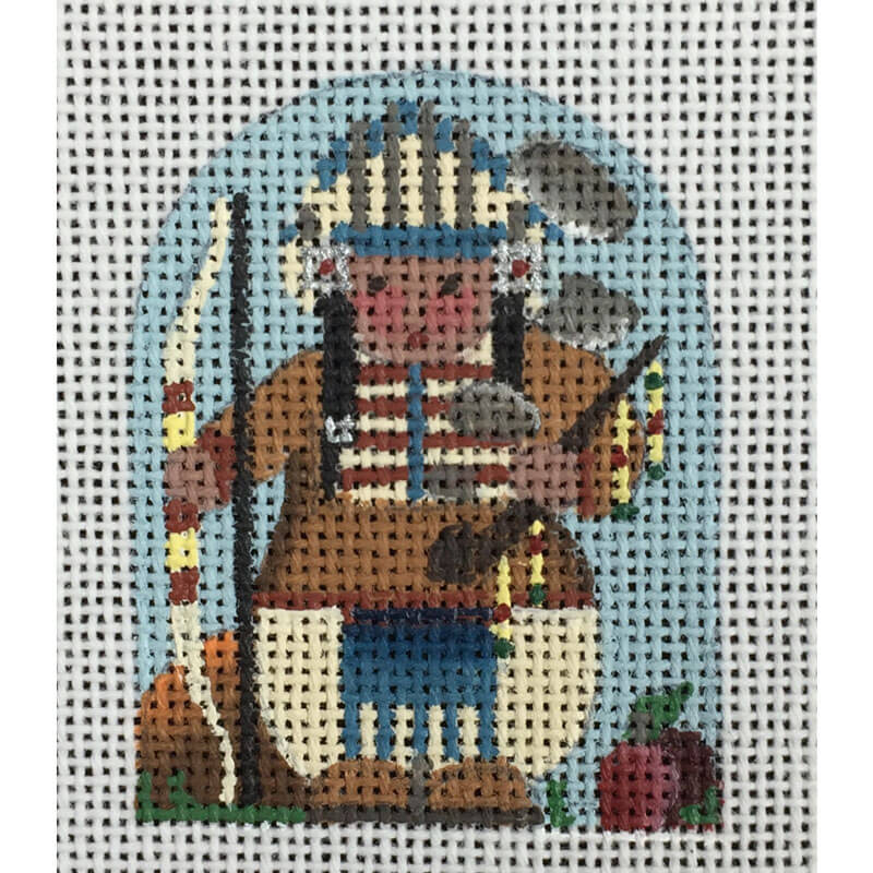 Nashville Needleworks-437-Thanksgiving Thimble Indian Chief