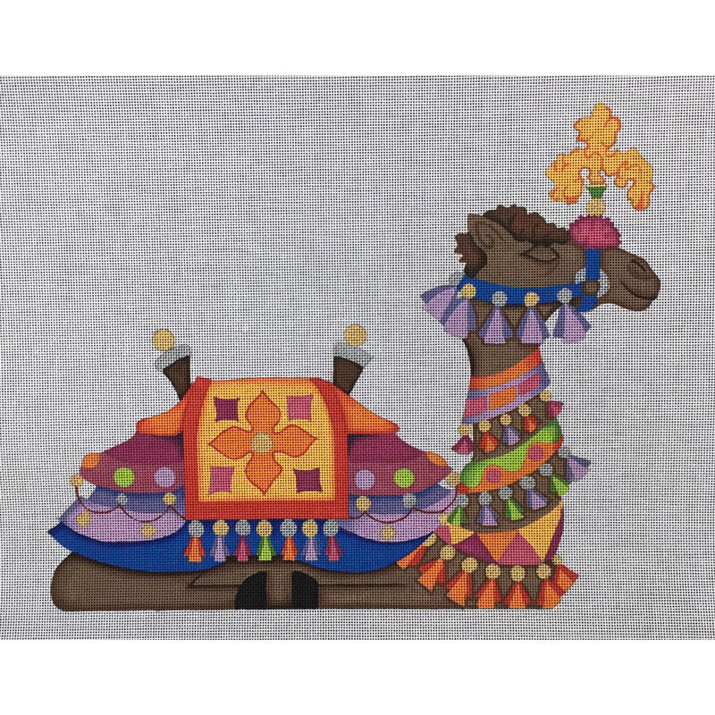 Nashville Needleworks-4064-Camel-#2 Orange & Blue