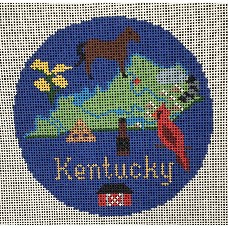 Nashville Needleworks-4122-Kentucky Round Ornament