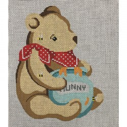 Nashville Needleworks-4128-Hunny Bear Ornament