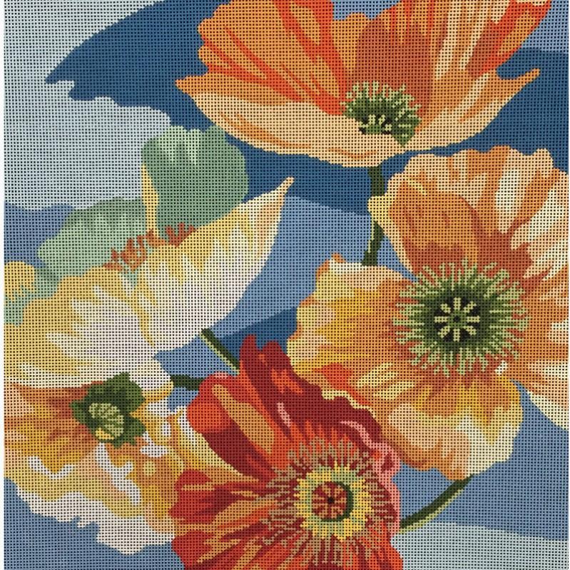Nashville Needleworks-2648-Poppy on Blue