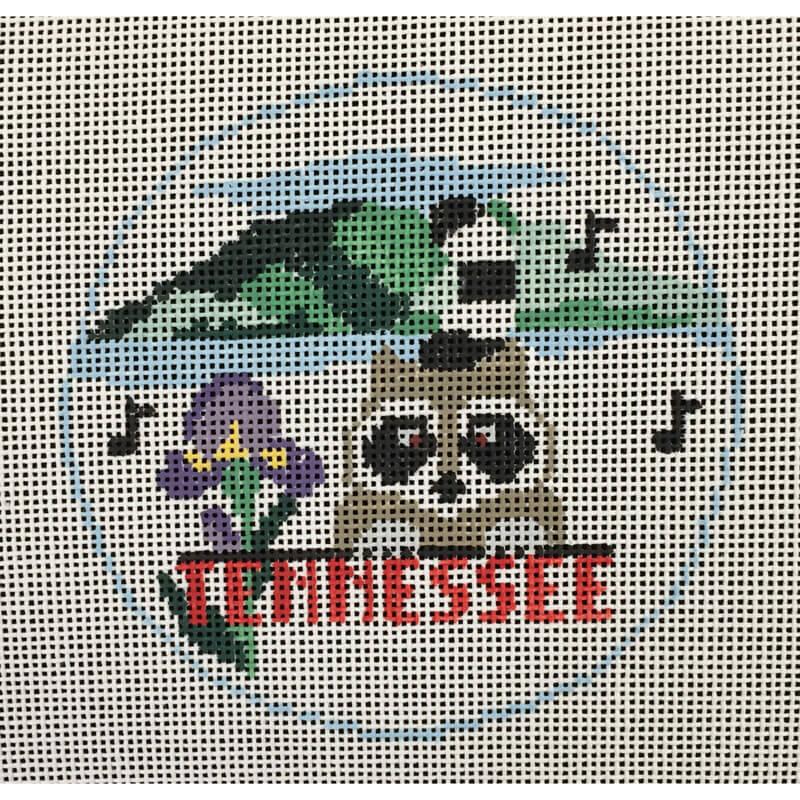 Nashville Needleworks-3677-Tennessee Round Ornament