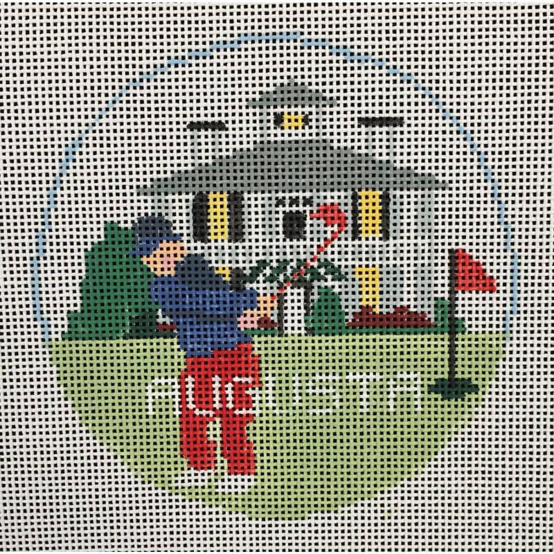 Nashville Needleworks-4137-Augusta Round Ornament