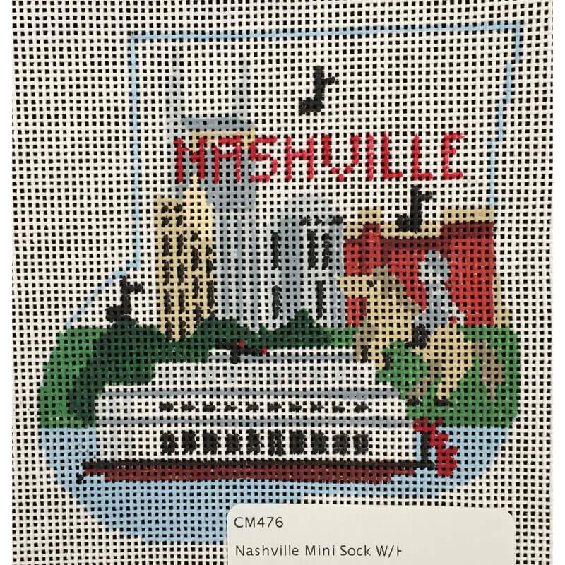 Nashville Needleworks-190-Nashville Mini Sock with Horse