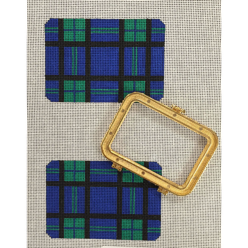 Nashville Needleworks-2801-Plaid Business Card Holder
