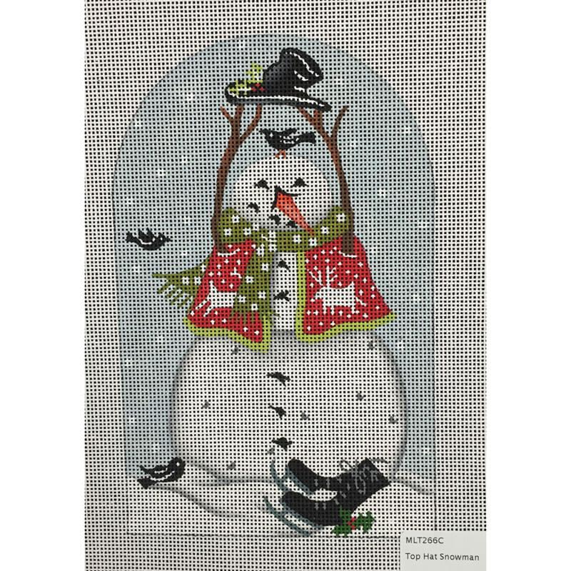 Nashville Needleworks-4410-Top Hat Snowman