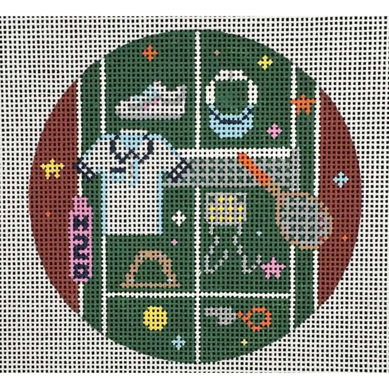 Nashville Needleworks-4469-Tennis Round Ornament