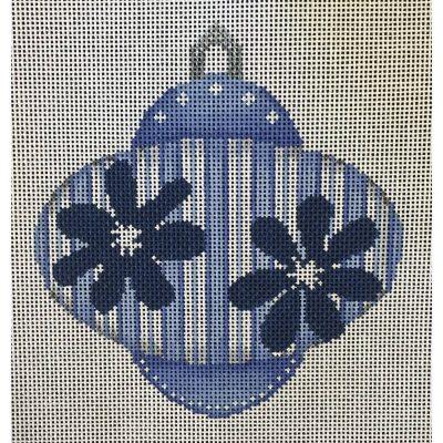 Nashville Needleworks-3532-Blue with Navy Flowers