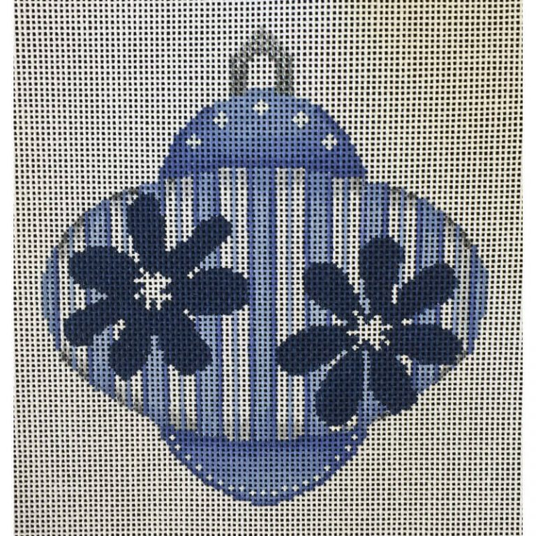 Nashville Needleworks-3532-Blue with Navy Flowers