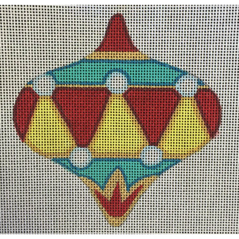 Nashville Needleworks-2075-Red and Yellow Ornament
