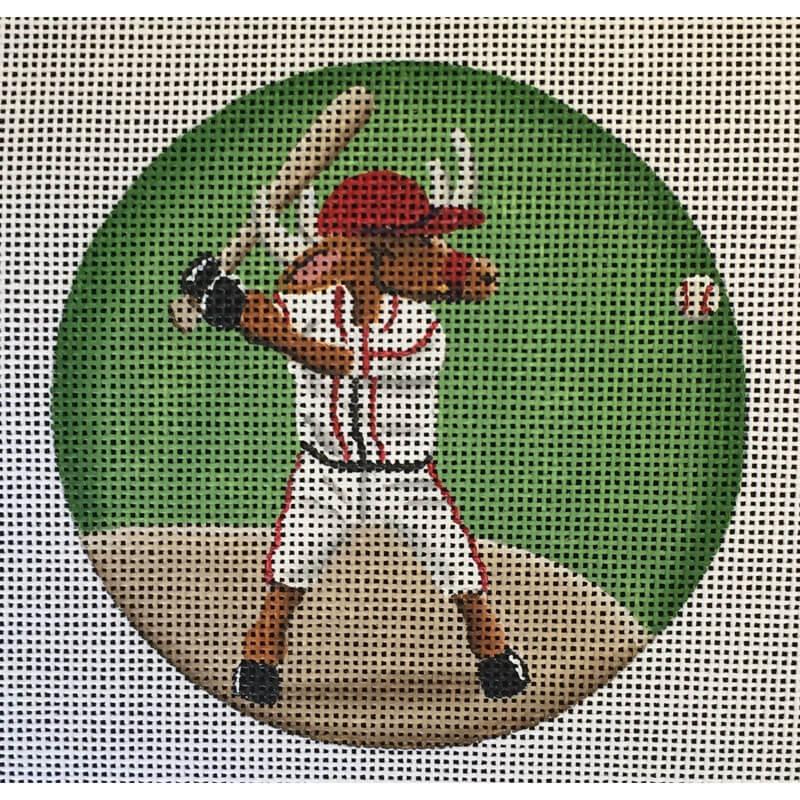 Nashville Needleworks-4621-Baseball Reindeer