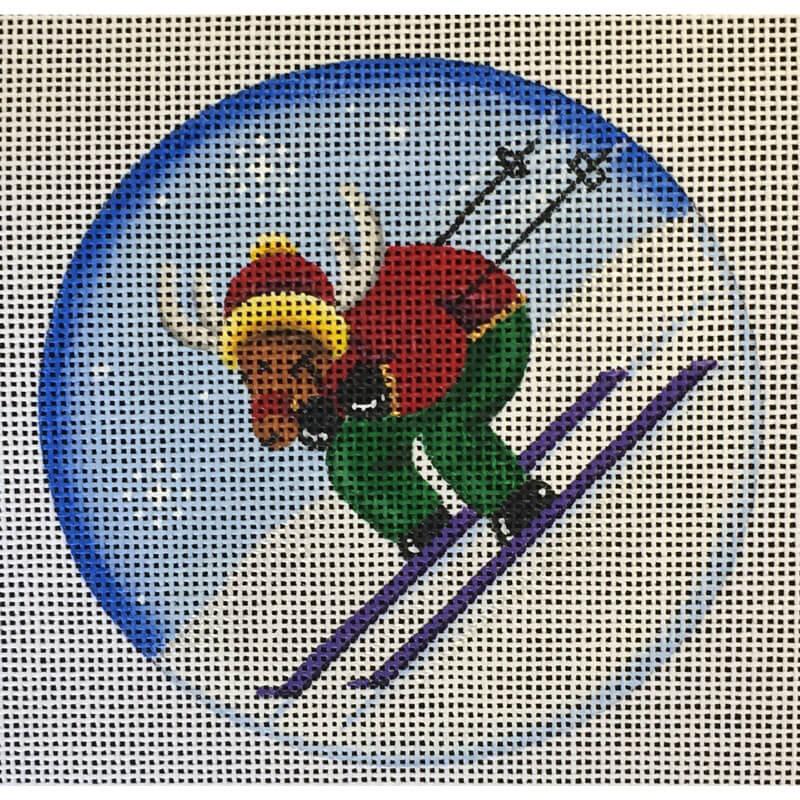 Nashville Needleworks-4622-Ski Reindeer