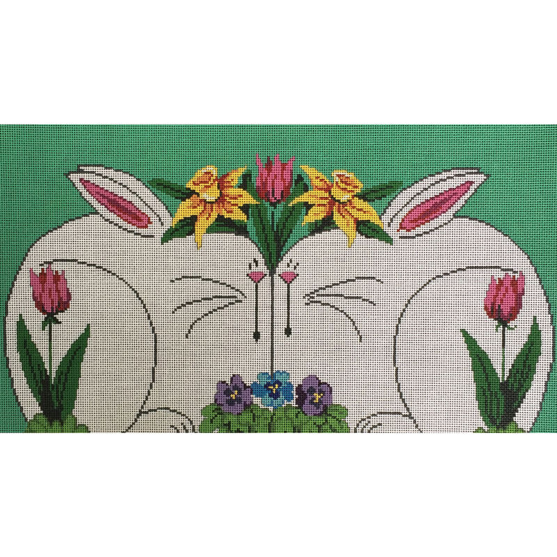 Nashville Needleworks-4222-Two White Bunnies