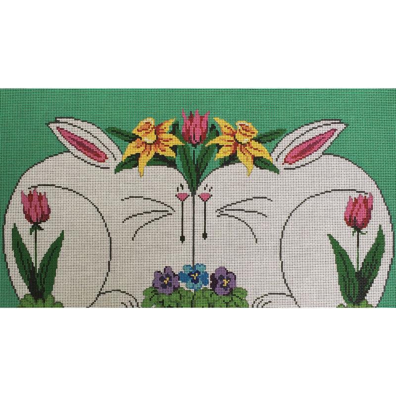 Nashville Needleworks-4222-Two White Bunnies
