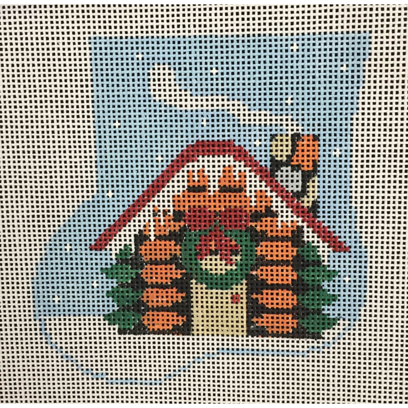 Nashville Needleworks-4787-Carrot Cabin with Bunny