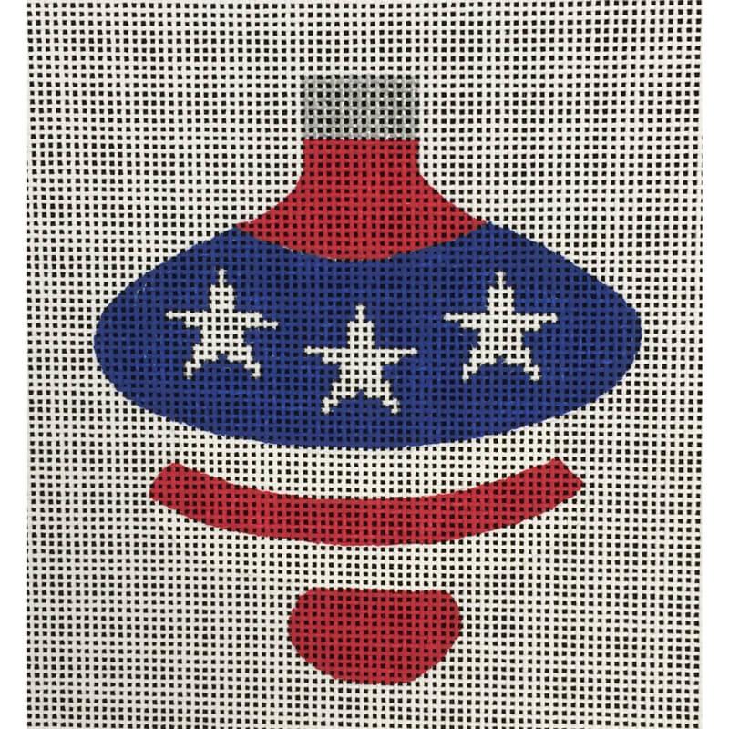Nashville Needleworks-4771-Patriotic Spindle Ornament