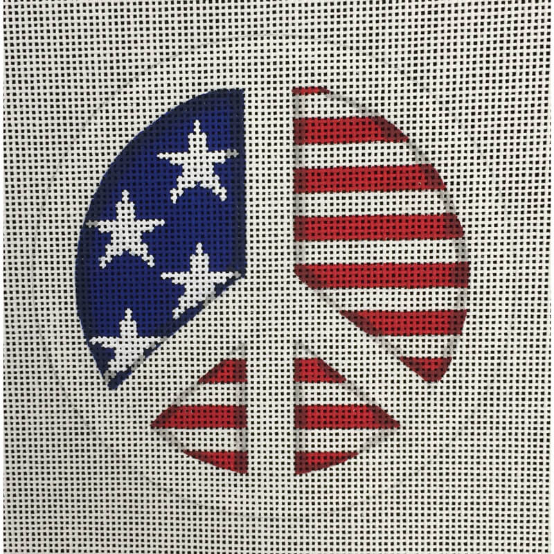 Nashville Needleworks-4772-Patriotic Peace Sign