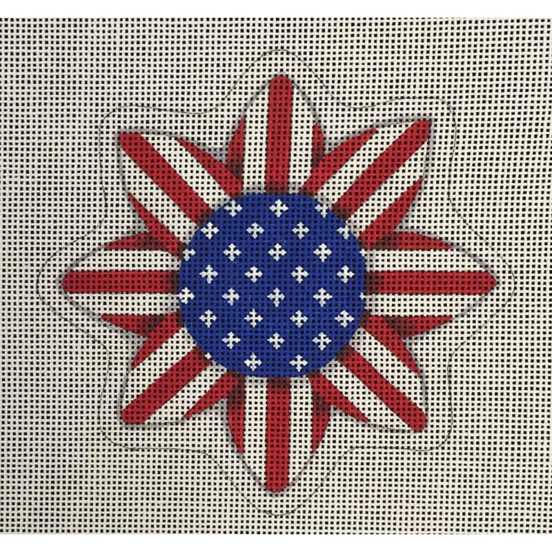 Nashville Needleworks-4773-Patriotic Sunflower