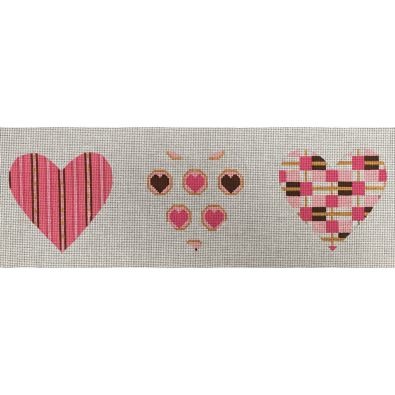 Nashville Needleworks-4741-Candy Pink/Brown 3-D Heart