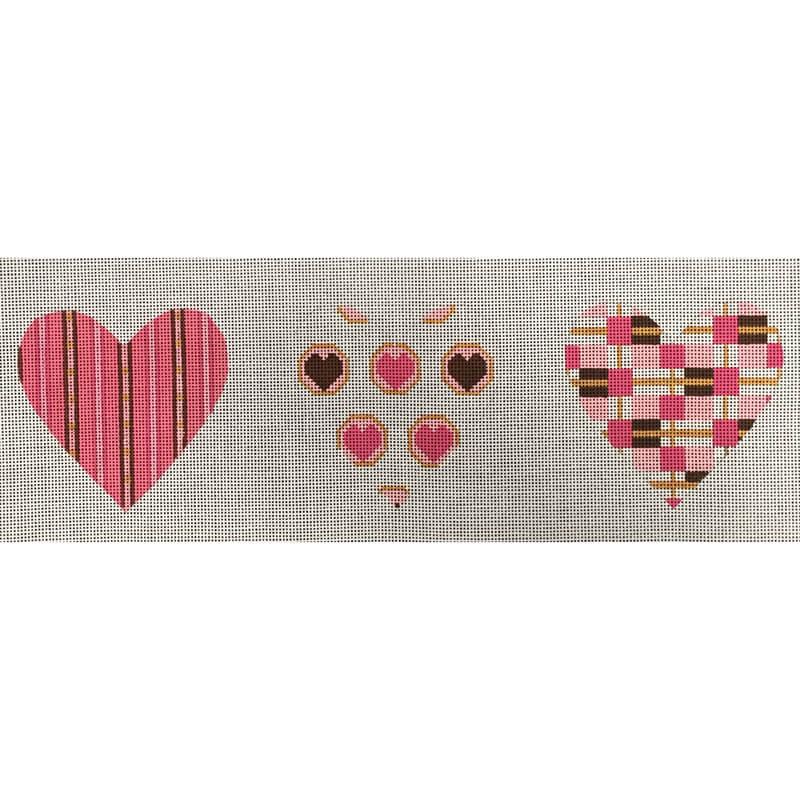 Nashville Needleworks-4741-Candy Pink/Brown 3-D Heart