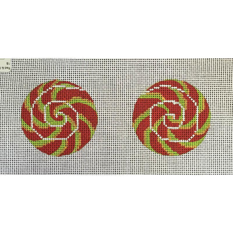 Nashville Needleworks-5248-Red & Green Swirl Lollipop