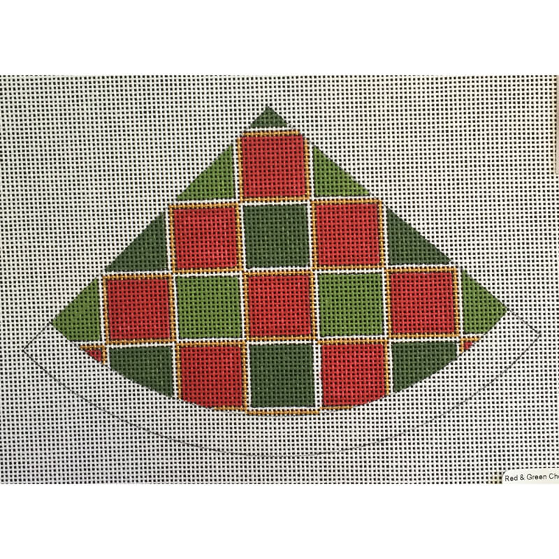 Nashville Needleworks-5250-Red & Green Check Santa Hat
