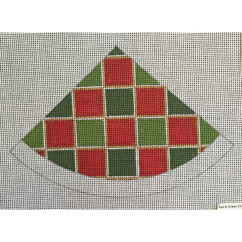 Nashville Needleworks-5250-Red & Green Check Santa Hat
