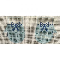 Nashville Needleworks-4981-Blue Baby's First Christmas Mittens