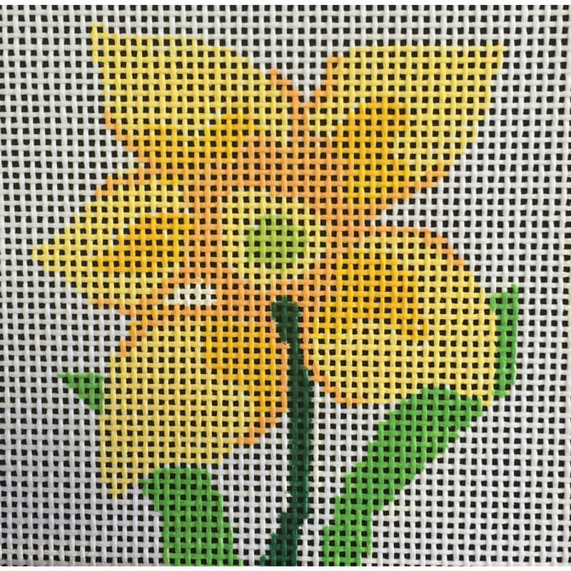 Nashville Needleworks-5213-Daffodil Coaster